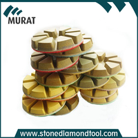 3 Inch 80mm Diamond Abrasive 8 Triangles Resin Floor Concrete Polishing Pads for Renovation