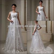 RT055 Professional OEM Factory Real Custom Photos Tulle Split Empire Waist woman arabic Wedding Dress