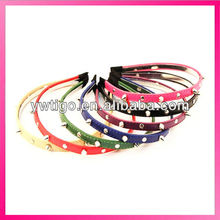 Studded leather hairband alice band
