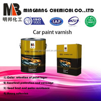Car usage and acrylic main raw material 2k clear coat
