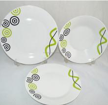 crockery dinner set,new design 18pcs porcelainware set exported to Greece