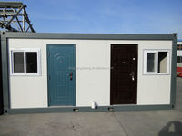 low cost steel frame flatpack container house for sale