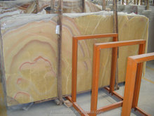 High Quality Cheap Custom transparent yellow onyx stone