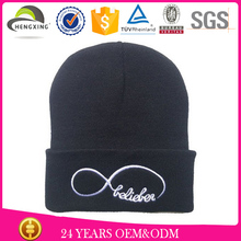 promotion discount jacquard custom knit beanie embroidery
