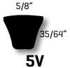 Classic C Section V Belt - V-Belts C2667