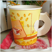 7oz paper cup with handle, paper cup with handle, disposable paper cup