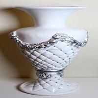 Wholesale artificial flower pot in wedding hotel decorative big plastic flower vase ceramic vase flowerpot
