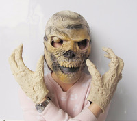 Alien Skull Face Mask Halloween Horror Party Skull Head Face With Hand Mask