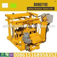 Egg laying type QT40-3A movable manual cement block making machine