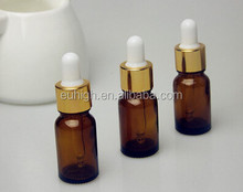 10ml amber essential oil glass vials with dropper