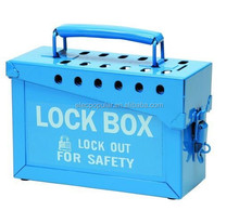 blue color safety portable steel lock box