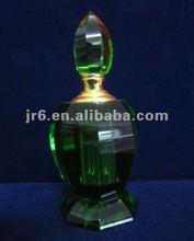 Verde de cristal botella de perfume para el regalo de boda, niza botella de vidrio