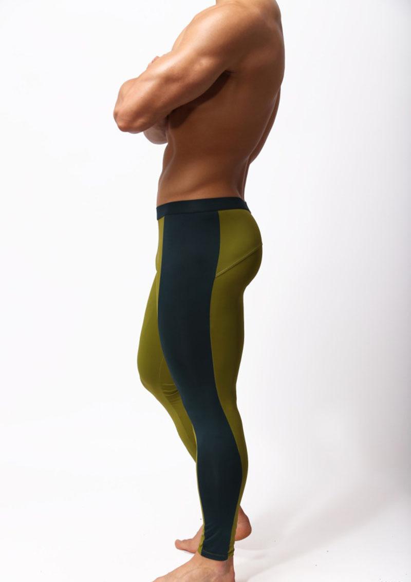 Men wearing tight yoga pants