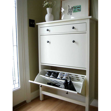Modern KD Shoe Chest Design 2 Drawers mdf Shoe Cabinet Storage Furniture Shoe Cabinet with mirror