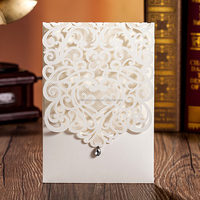 Best Selling Top Fold Wedding Invitation Cards Laser Cards with Diamante