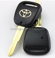 High quality 1 side-button key shell for toyota remote key case toyota one button key (TOY41) with logo
