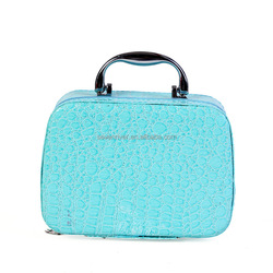 Portable PU Leather Vanity Makeup Cosmetic Case with Mirror