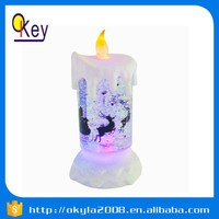 christmas candle decorations, swirling glitter candle, LED candle lamp