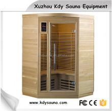Factory Elegant degsin wooden far infrared sauna room /Dry steam and sauna combine room