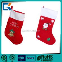 Wholesale best selling lovely custom design felt christmas stockings