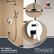 Wall mounted rain shower faucet for complete shower room