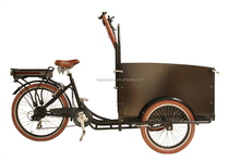 2015 CE Danish bakfiets family electric 3 wheel reverse cargo tricycle/bike