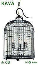 Birdcage iluminación casera / cristal decoración iluminación del hogar