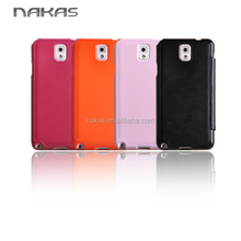 Best-selling flip leather mobile phone cover with window for Samsung galaxy note 3