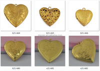Wholesale Europe style Heart shape locket photo frame Pendant for Necklaces