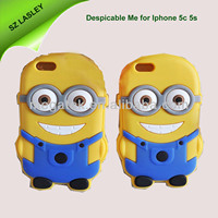 for iphone case Despicable ME , 3D Character cartoon minions case for iphone 5c 5s, for iphone 5c case minions