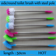 Afrian market,Nigeria hot sale stainless steel handle cleaning tools plastic toilet brush