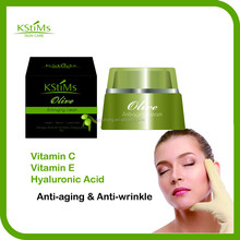 New Arrival Olive Extract + Vitamin C + Vitamin E skin firming tightening face anti-aging anti-wrinkle cream