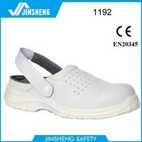 Breathable holes slipper White chef shoe