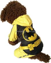 batman costume dog rain coat waterproof