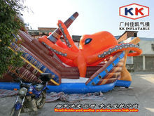 China Supplier Inflatable Octopus Slide