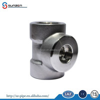 Forged Pipe Fittings astm ss304 Equal stainless steel tee