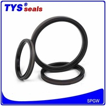 Bronze filled PTFE+Nylon+NBR Excavator Parts Hydraulic Cylinder Piston Compact seals Factory Direct sale SPGW