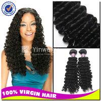 "virgin hair/ brazilian human hair extensions, 10pcs lot 22"" cheap curly hair weaves in full stock"