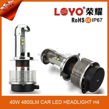 high low beam auto lights h4 led headlight bulb 40w power output