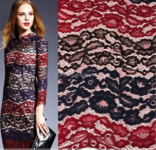 Super soft lace for skirt three color hollowed-out nylon polyester cotton top grade lace fabric