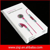 High Quality 100% Original White Mobile Earphones for Iphone 4 5 Earphone Headphone With MIC Wholesale
