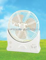 "10"" mini battery operated Rechargeable fan with emergency lights"