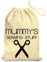Personalised Daddy's Mummy's Sewing Stuff Cotton Drawstring Gift Bag Birthday