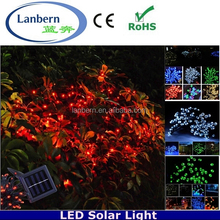 Most popular products 2015 rgb or single color outdoor solar string 12m 100 leds 2013 new christmas lights