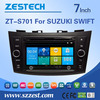 Zestech double din car stereo for suzuki swift gps bluetooth mp3 mp4