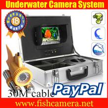 100m 360 grado sony ccd color 600 tvl cámara cctv,pescado caa, bajo el agua de vídeo caa, buscador de los pescados