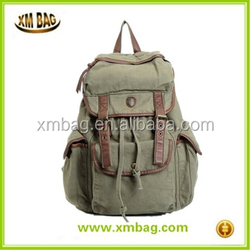 Super Cool Multi-function Army Green Canvas Backpack Practical Leisure Rucksack Unisex Backpack