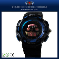 Factory Price Plastic Fashionable Customized Logo Alarm Sport Watch