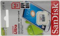Sandisk 16GB Ultra microSDHC microSDXC Class 10 48MB/s UHS-I memory card SDSQUNB-016G