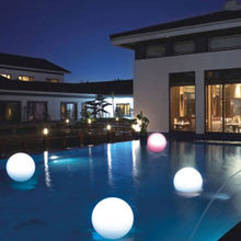 floating waterproof led light ball Wholesale! 2014 RGB luminous ball/ led ball lights/ plastic led light ball